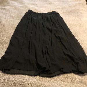 Abercrombie & Fitch Black flowy midi skirt.